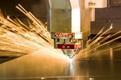 Laser cutting spark