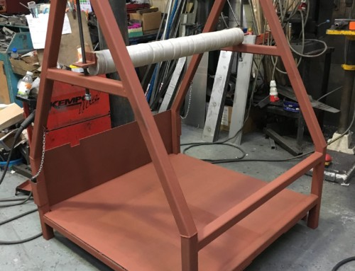 Reel Frames to hold cardboard for production of paper cups