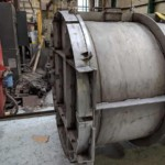 Charcoal Burner Retort - Side view and front