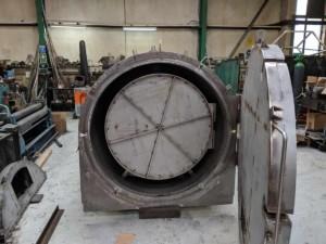 Charcoal Burner Retort - Front view with door open