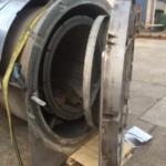 Charcoal Burner Retort - Assembled door open