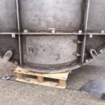 Charcoal Burner Retort - Close up of front door vent closed
