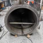Charcoal Burner Retort - View inside