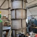 Charcoal Burner Retort - Inner section stood on end